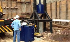 Teste de Qualidade para Estacas Hélice contínua Monitorada