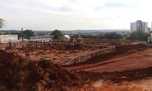 Escavação de tubulão a céu aberto