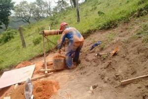 Escavação Tubulão a céu Aberto