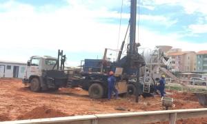 Estaca Escavada com trado Mecanizado