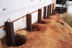 Estacas para reforço estrutural